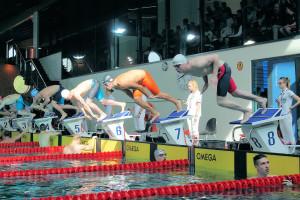 Grand Prix - Puchar Polski w pływaniu09-10 maja 2015r.fot. Bogusław Kwaitkowski0470