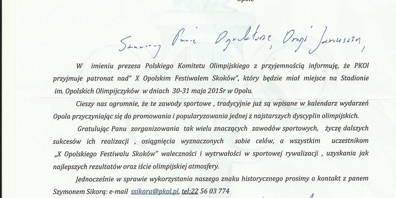 X Opolski Festiwalem Skoków z patronatem Polskiego Komitetu Olimpijskiego