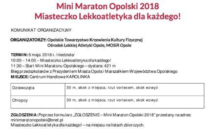 Mini Maraton Opolski 2018 – zapisy