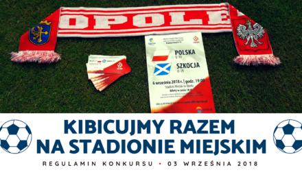 """Regulamin konkursu """"Kibicujmy razem na Stadionie Miejskim"""""""