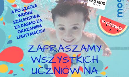 Basen Letni Błękitna Fala otwiera się dla uczniów!
