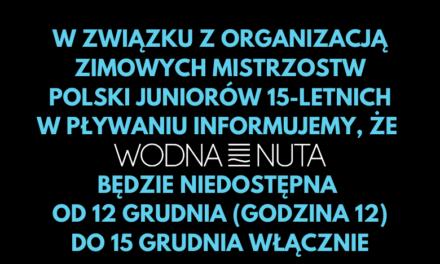 Zimowe Mistrzostwa Polski – dostępność Wodnej Nuty