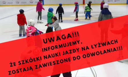 Szkółki nauki jazdy na łyżwach odwołane!!!