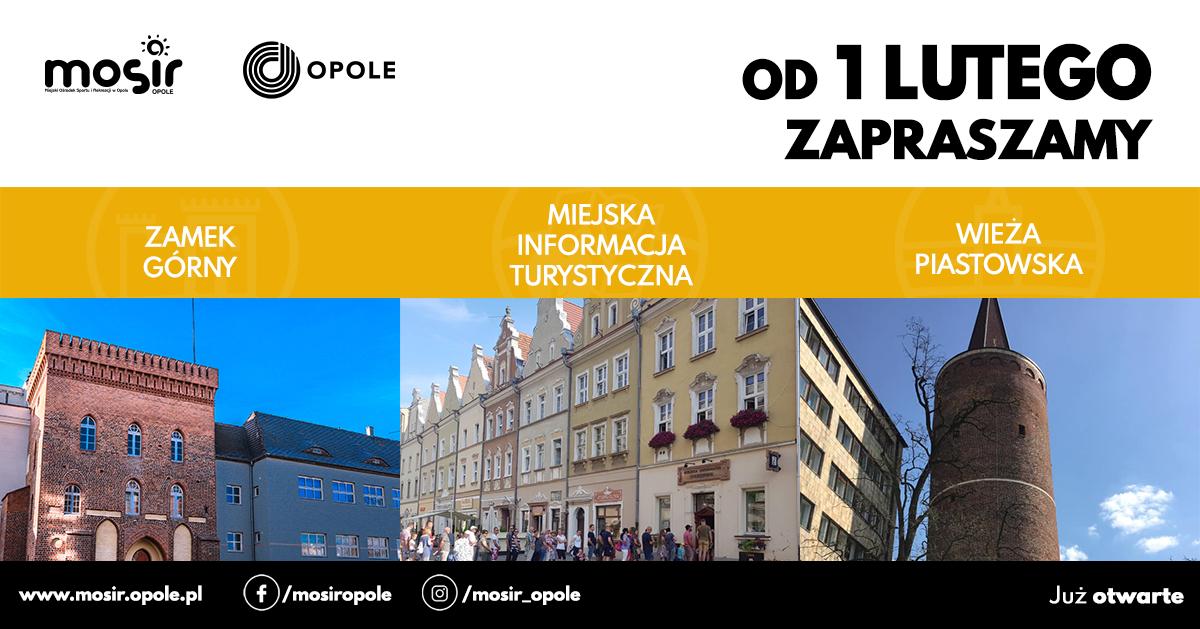 1 lutego wznawiamy działalność Wieży Piastowskiej, Miejskiej Informacji Turystycznej ORAZ Zamku Górnego